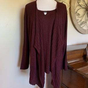 Sag Harbor Size 2X One Piece Layered Sweater